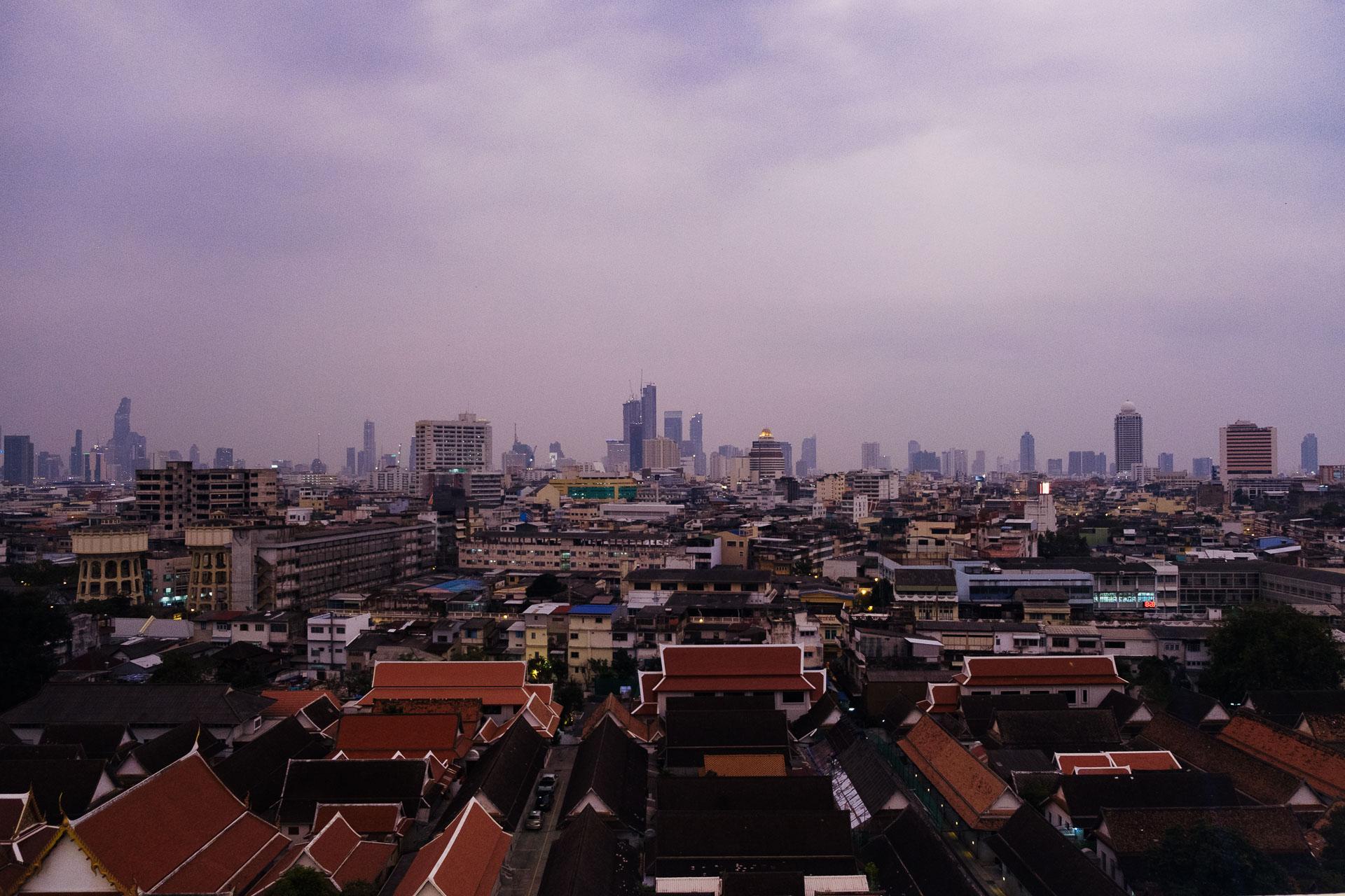 La vue de Bangkok Une de mes photos favorites de ce voyage en Thaïlande.